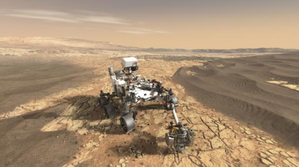 """NASA公开""""火星2020""""探测器渲染图"""