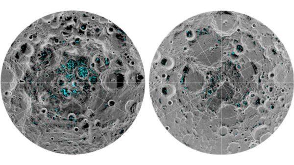 月球的两极的确有水冰存在