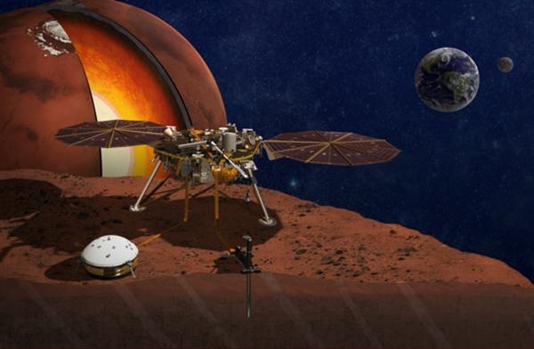 洞察号靠近火星准备明日着陆